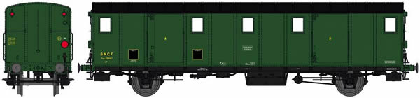 REE Modeles VB-112S - French Luggage Car OCEM 29 of the SNCF - Digital Doors